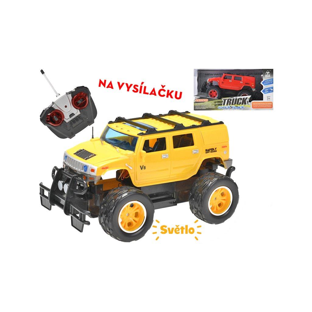 R/C auto terénne 24cm 27MHz plná funkcia na batérie so svetlom 2farby v krabičke