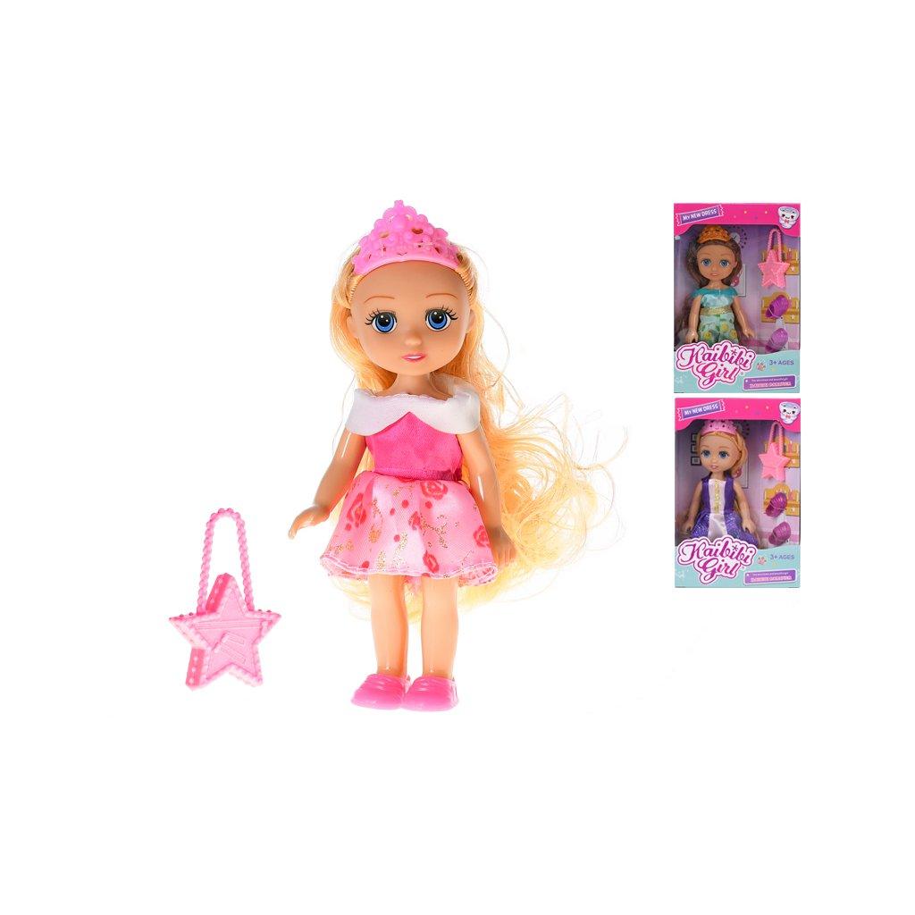 Bábika princezná 15cm s doplnkami 3druhy v krabičke