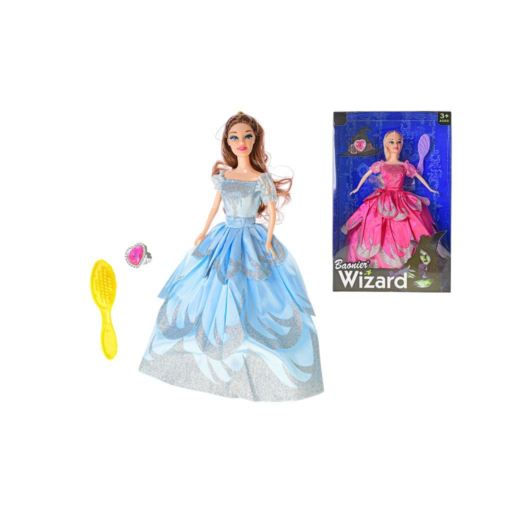 Bábika Wizard 30cm kĺbová s doplnkami 2farby v krabičke
