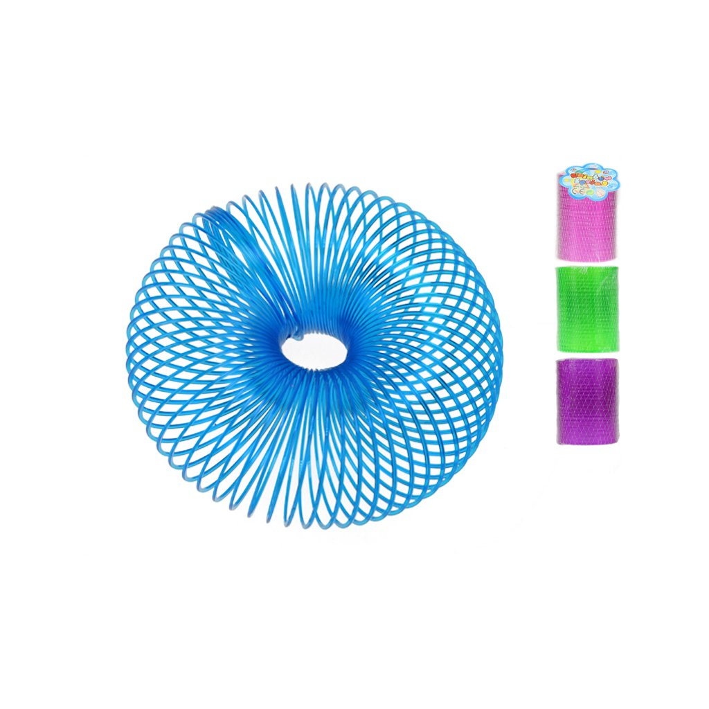 Špirála neónová 10cm 4farby v sieťke