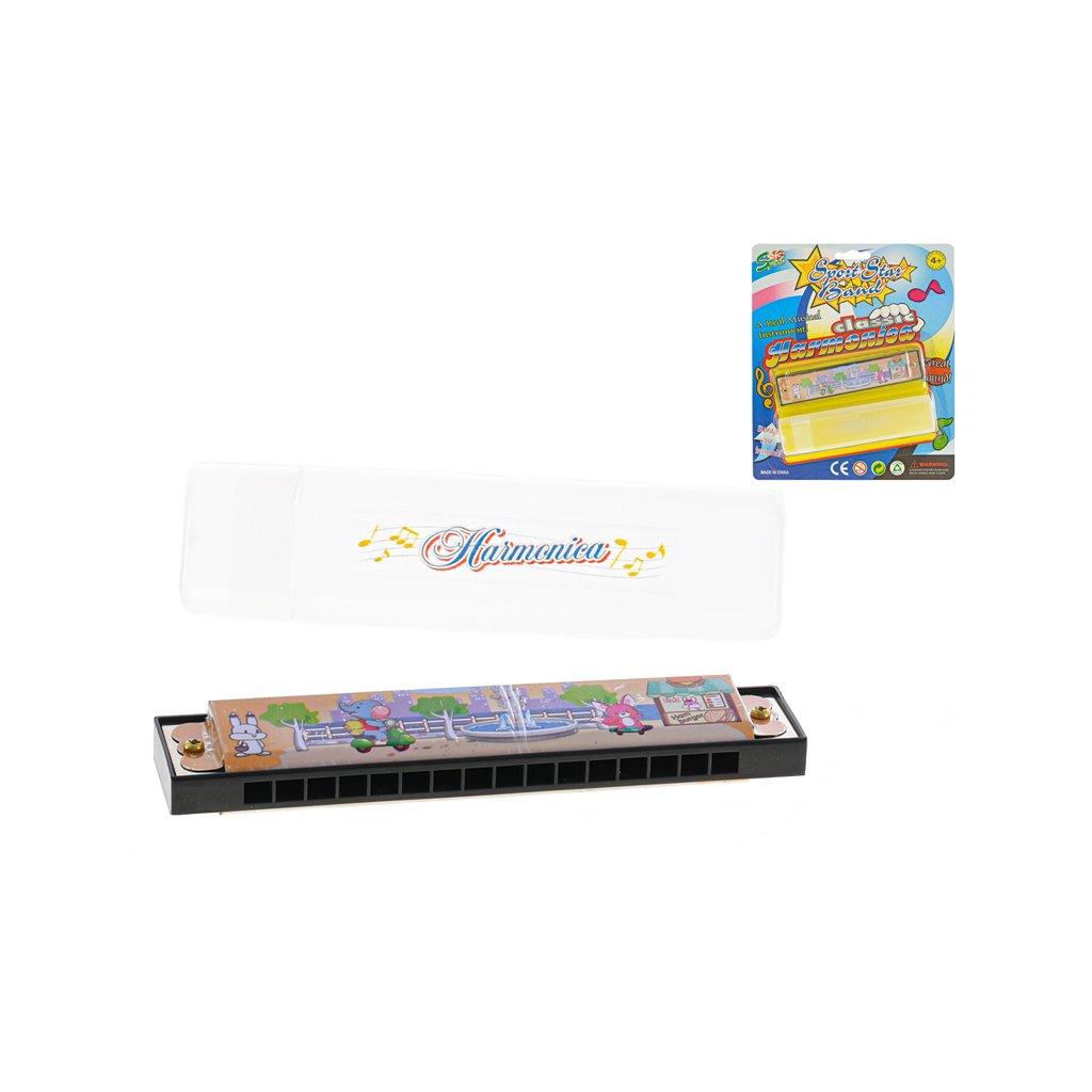 Harmonika fúkacia kov 13cm s puzdrom na karte