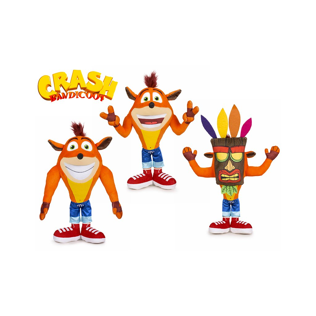 Crash Bandicoot plyšový 21cm 3druhy 0m+