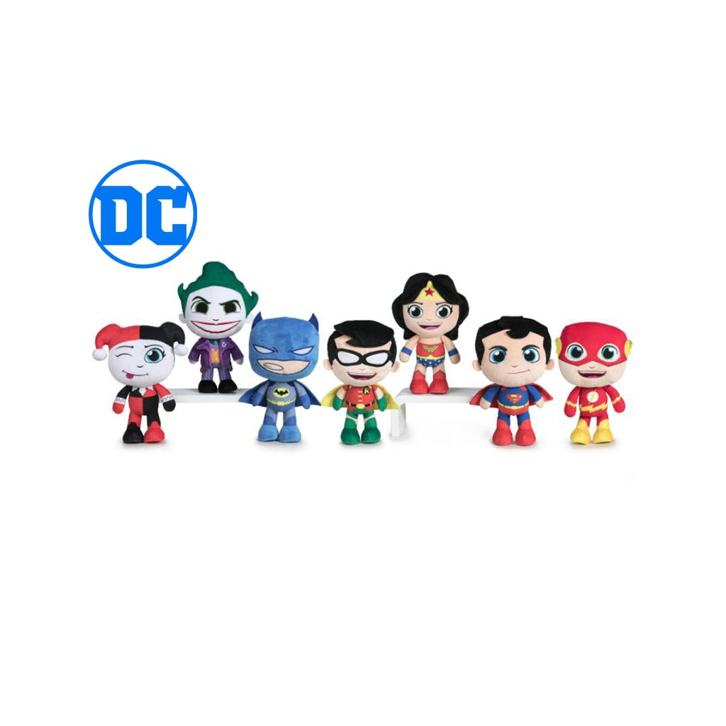 DC Comics Super Friends junior plyšový 20cm 7druhov 0m+