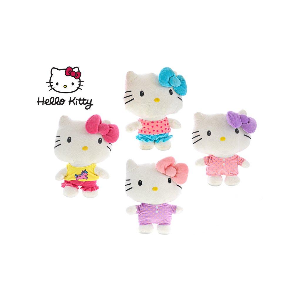 Hello Kitty plyšová 26cm pyžamová party 4farby 0m+