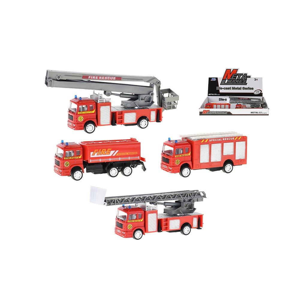 Auto hasiči 10,5-12cm kov na spätný chod 4druhy 8ks v DBX