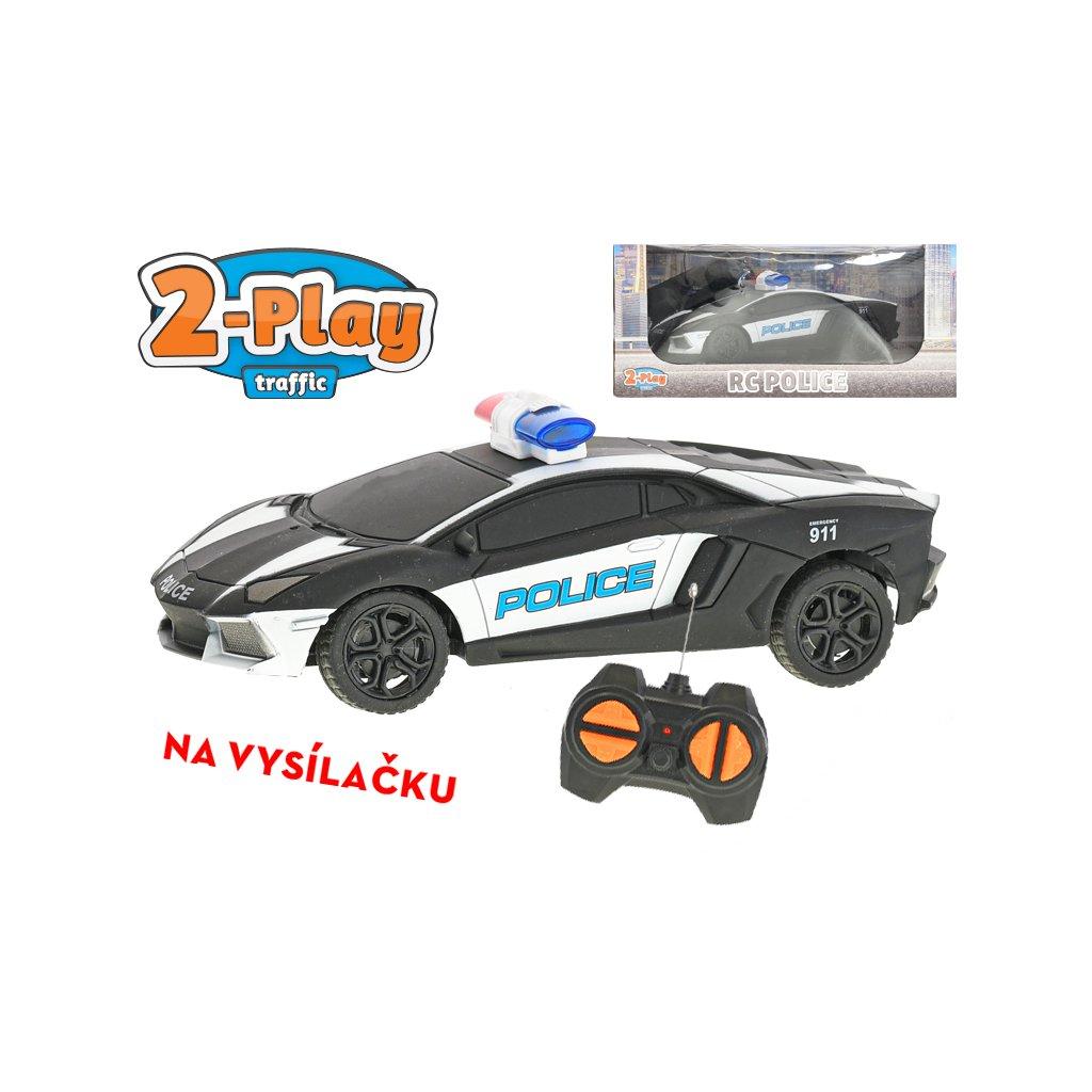 R/C auto USA policajné 15,5cm 2-Play na batérie 27MHz plná funkcia v krabičke