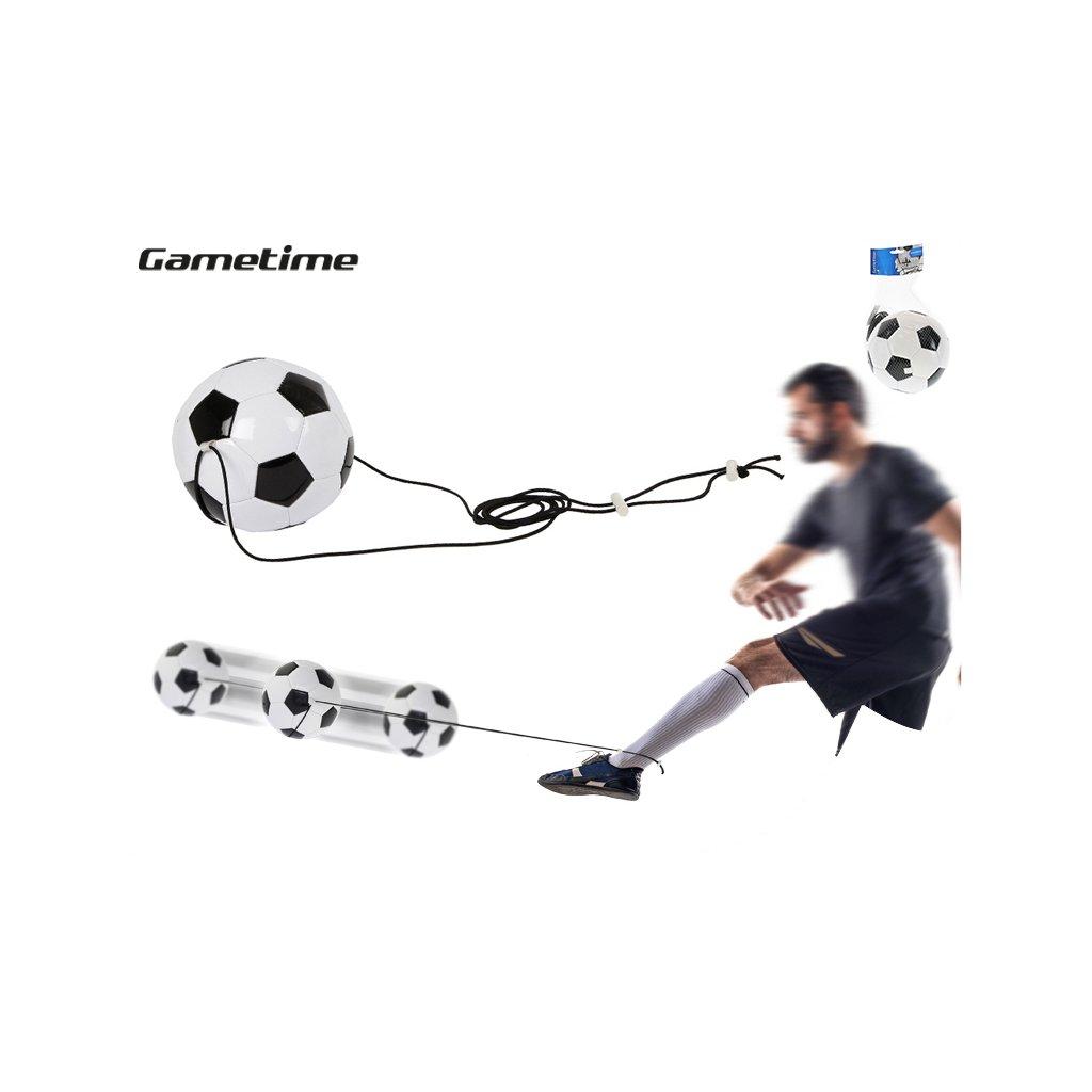 Futbalový trenažér lopta 19cm na pružnom lane v sieťke