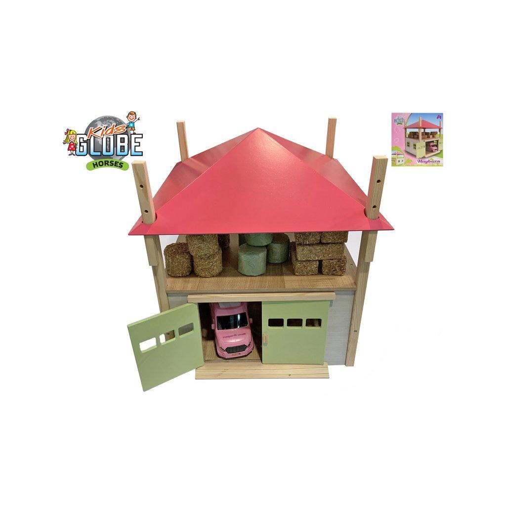 Senník/stodola 32x35x45cm 1:32 drevená v krabičke