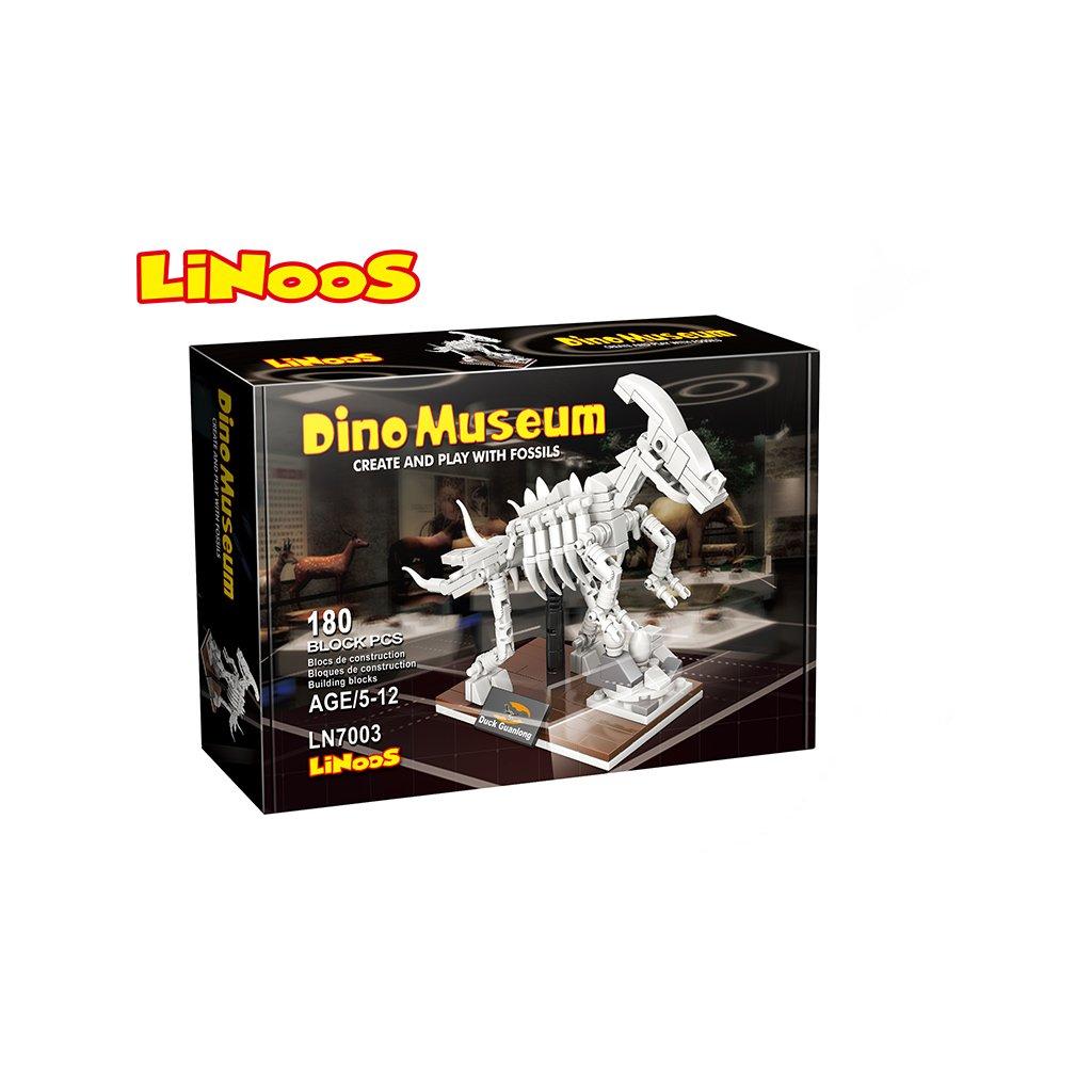 LiNooS stavebnica 180ks skelet dinosaurus Hadrosaurus v krabičke