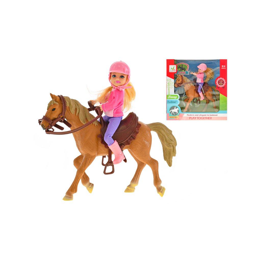 Kôň 21cm s jazdkyňou 14cm v krabičke
