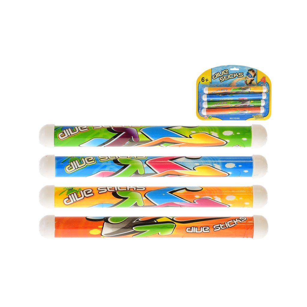 Vodná hra - tyčky na potápanie 21cm 4ks na karte