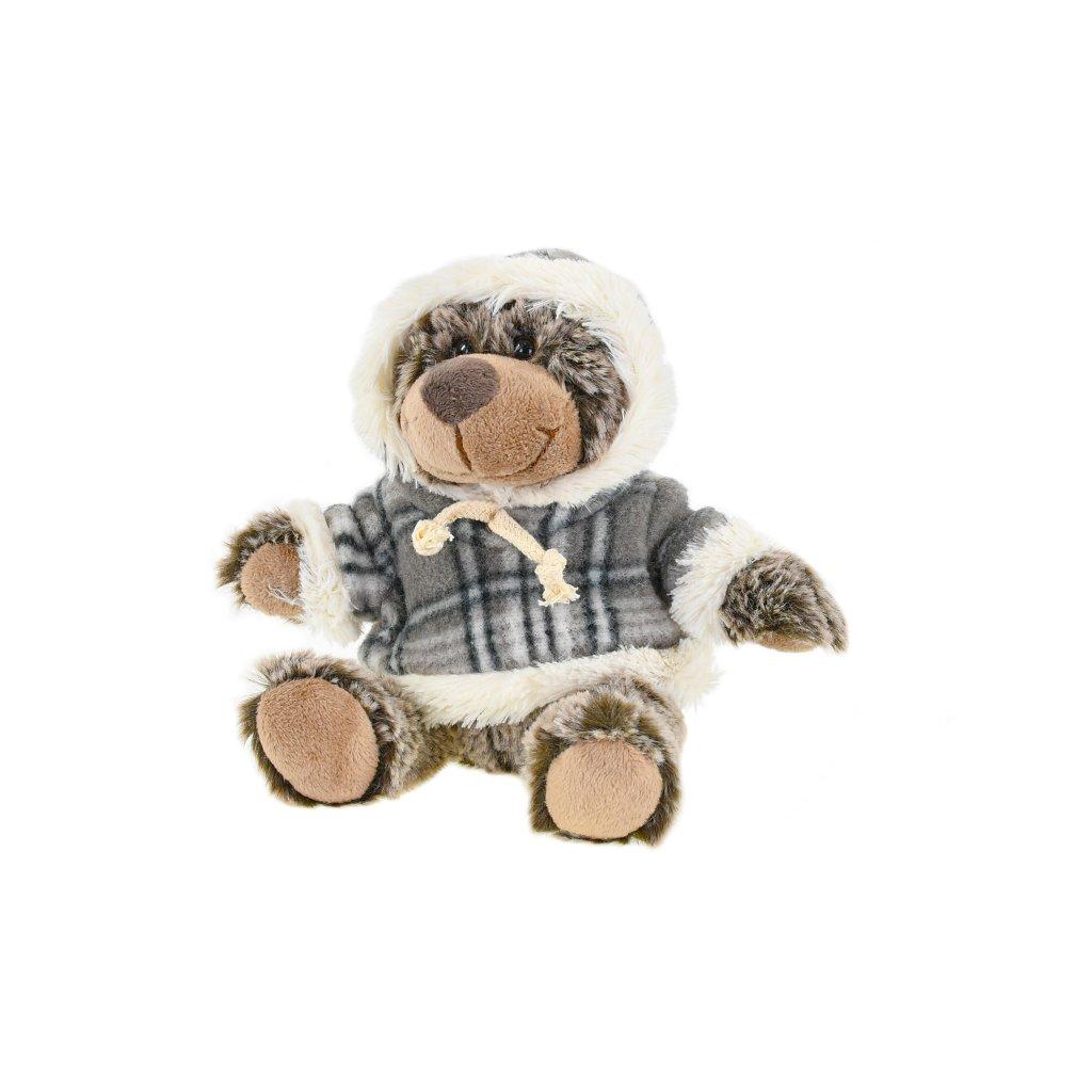 Medveď plyšový 15cm sediaci vo svetru 0m+ v sáčku