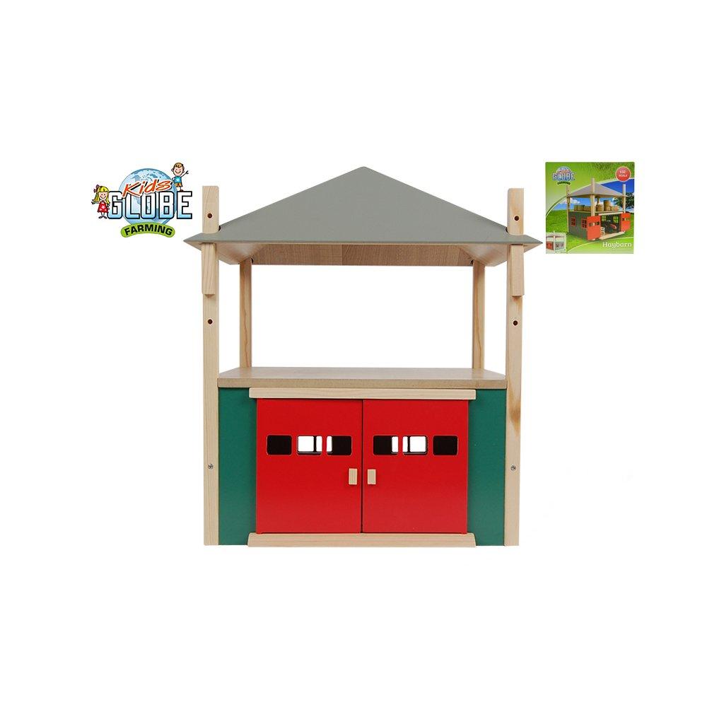 Senník/stodola 31,5x31,5x33cm 1:32 drevená v krabičke
