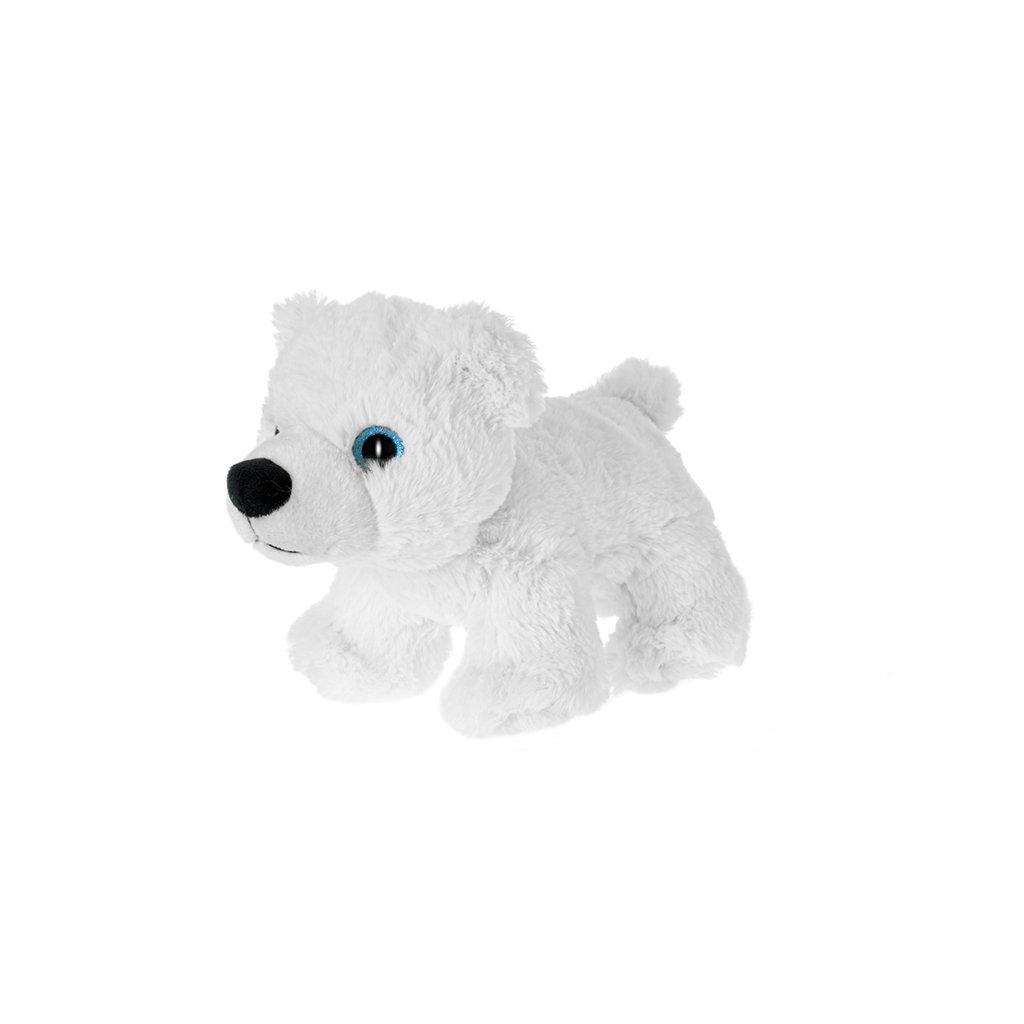 Medveď biely plyšový 20cm 0m+ v sáčku