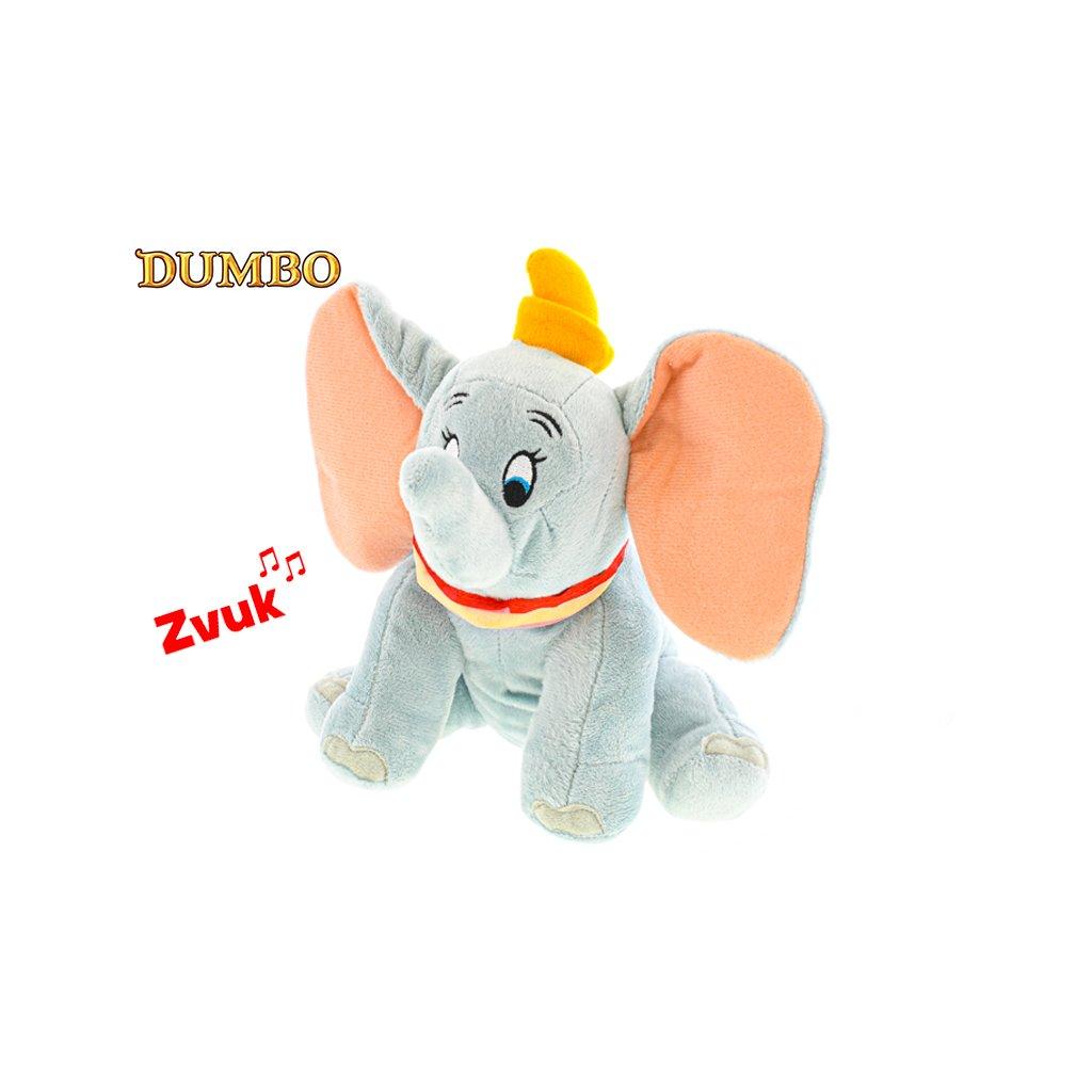 Dumbo plyšový 20cm sediaci na batérie so zvukom 0m+