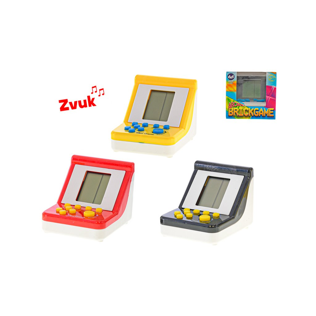 Brick game 9x7x6,5cm na batérie so zvukom 6farieb v krabičke