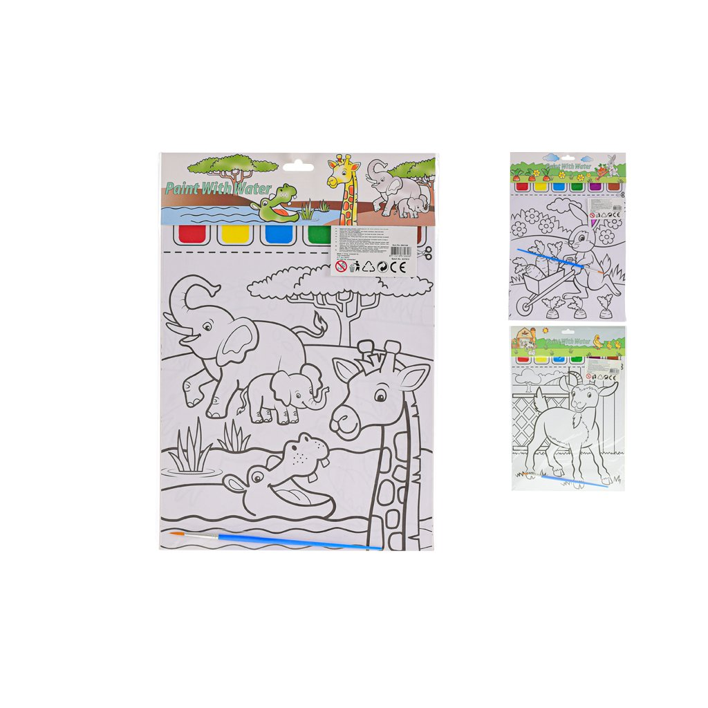 Maľovanky s farbou 6strán v sáčku