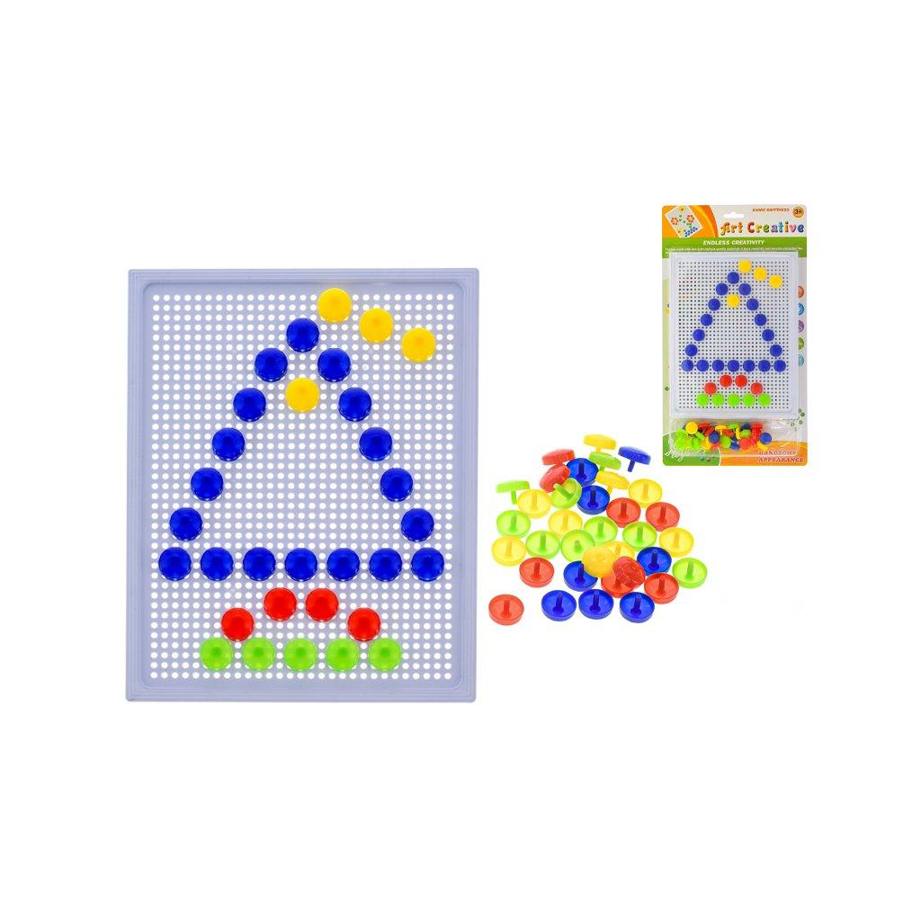 Tabuľka mozaika 24x18,5cm s klobúčikmi na karte