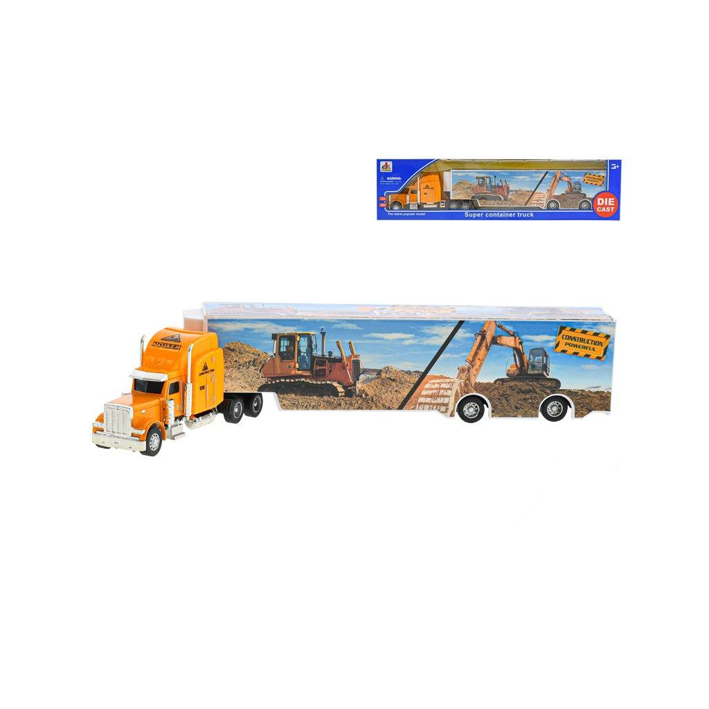 Kamión stavebný 35cm kov na vol'ný chod v krabičke
