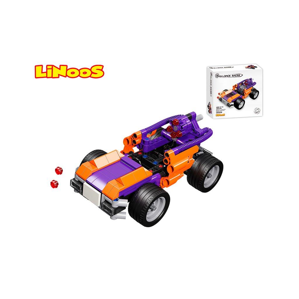 LiNooS stavebnica 223ks auto športové na spätný chod v krabičke