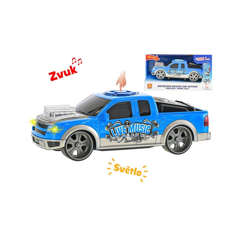 Auto športové 25cm ovládateľné na batérie so svetlom a zvukom v krabičke