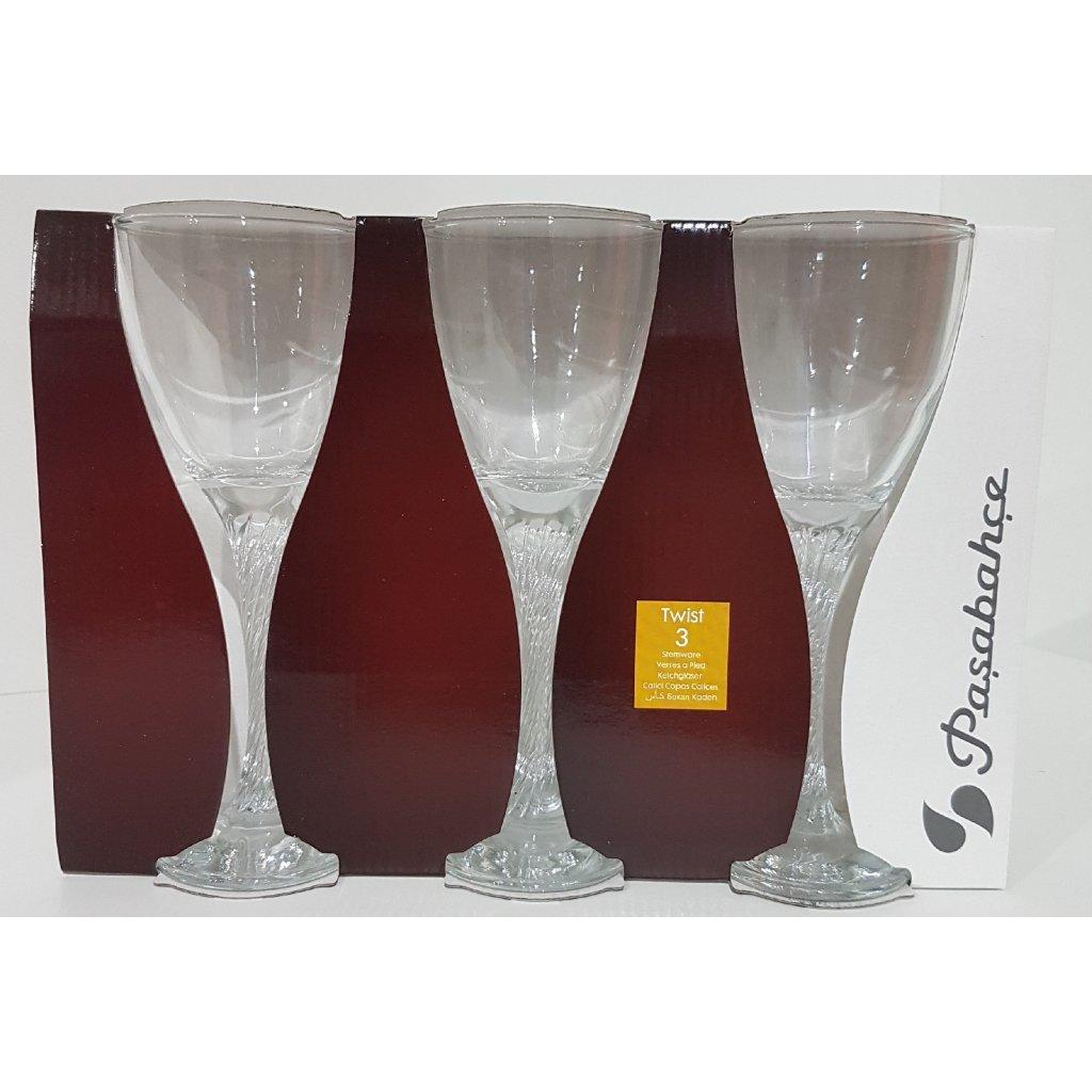 Pohár sklo 3ks na víno