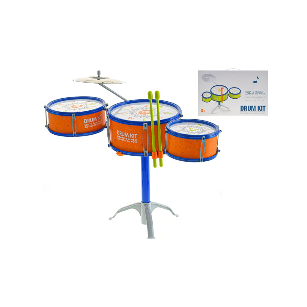 Sada bicích 3ks s činelami a paličkami 40cm v krabičke