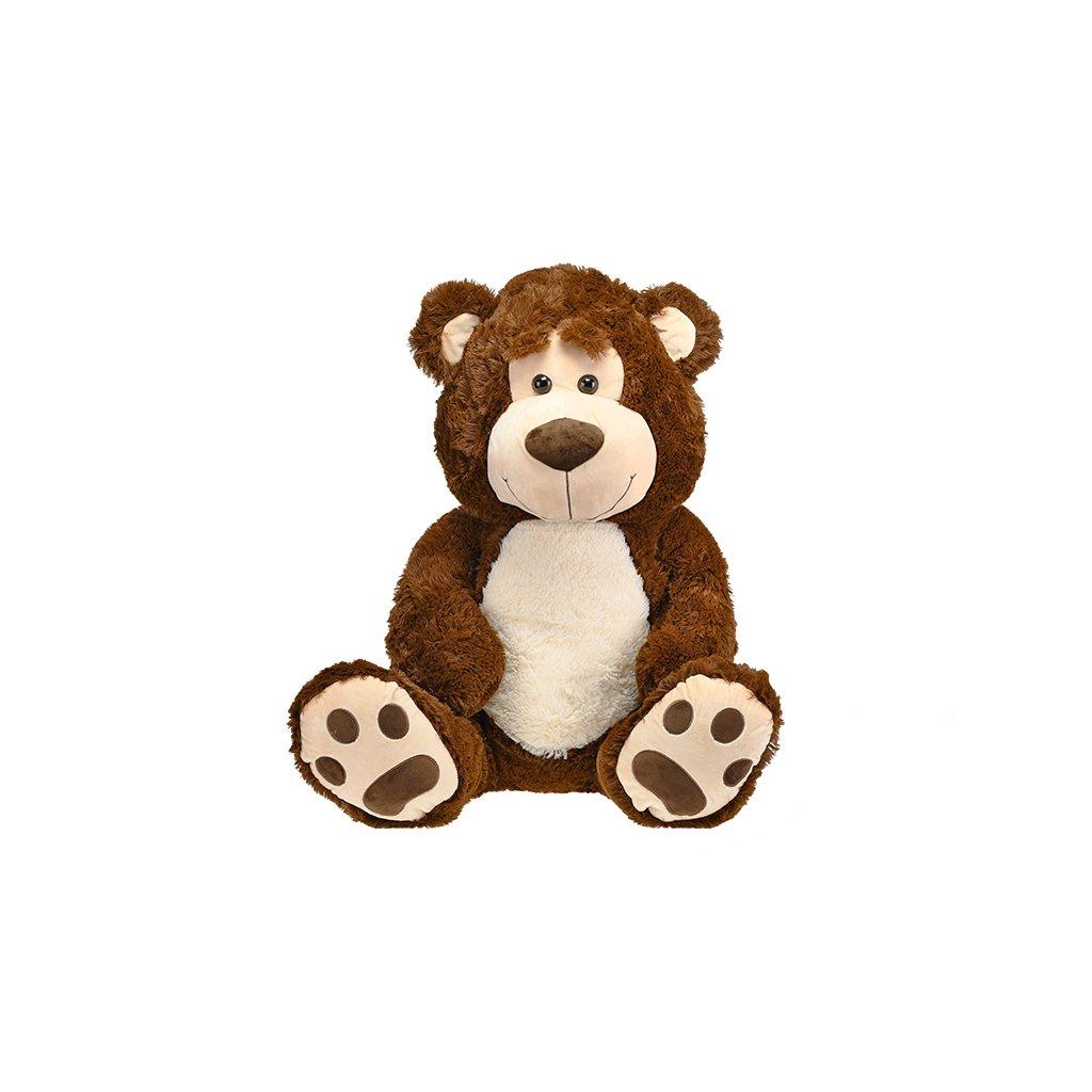 Medveď plyšový 67cm sediaci 0m+ tmavohnedý v sáčku