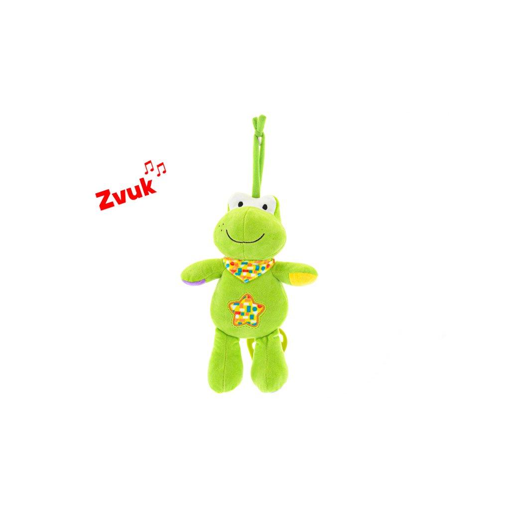 Žaba plyšová 30cm s hracím strojčekom na natiahnutie 0m+ v sáčku
