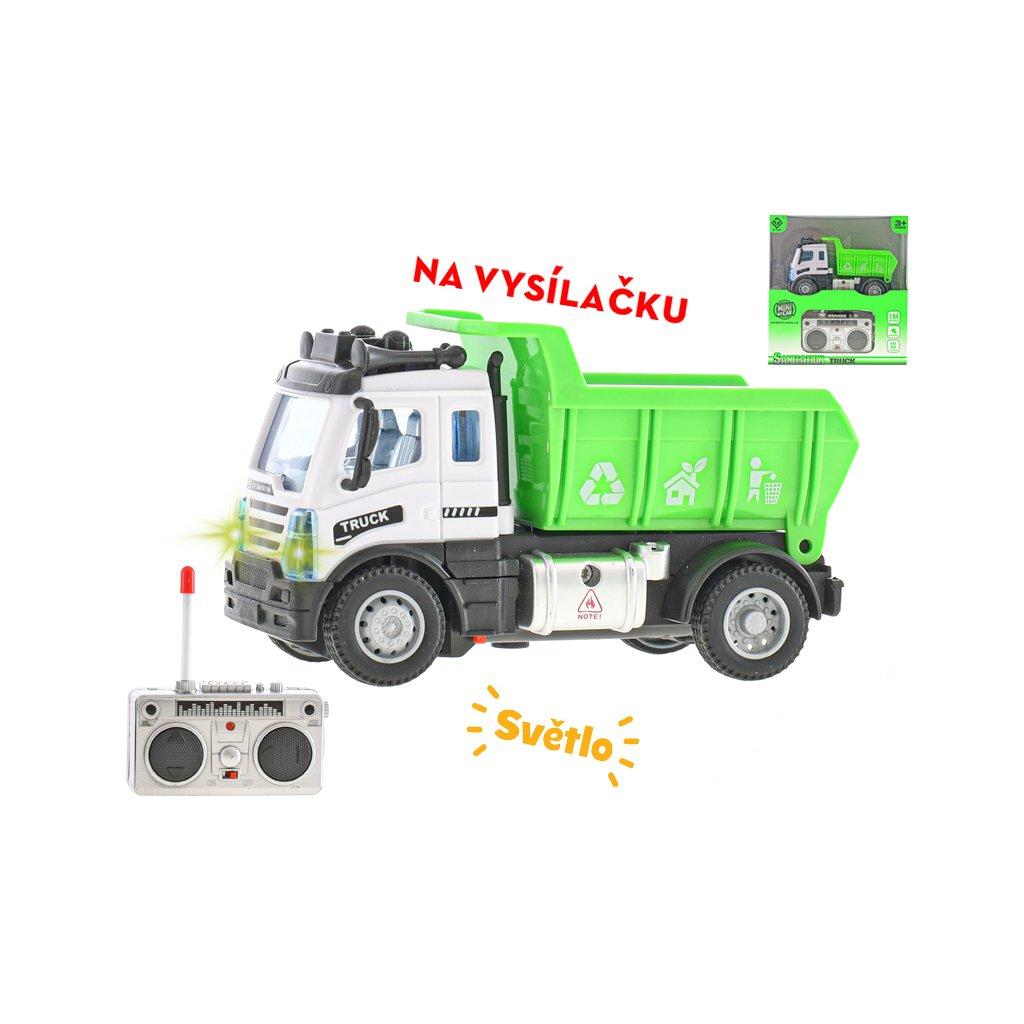 R/C auto nákladné 12,5cm 1:64 plná funkcia na batérie so svetlom 27MHz v krabičke