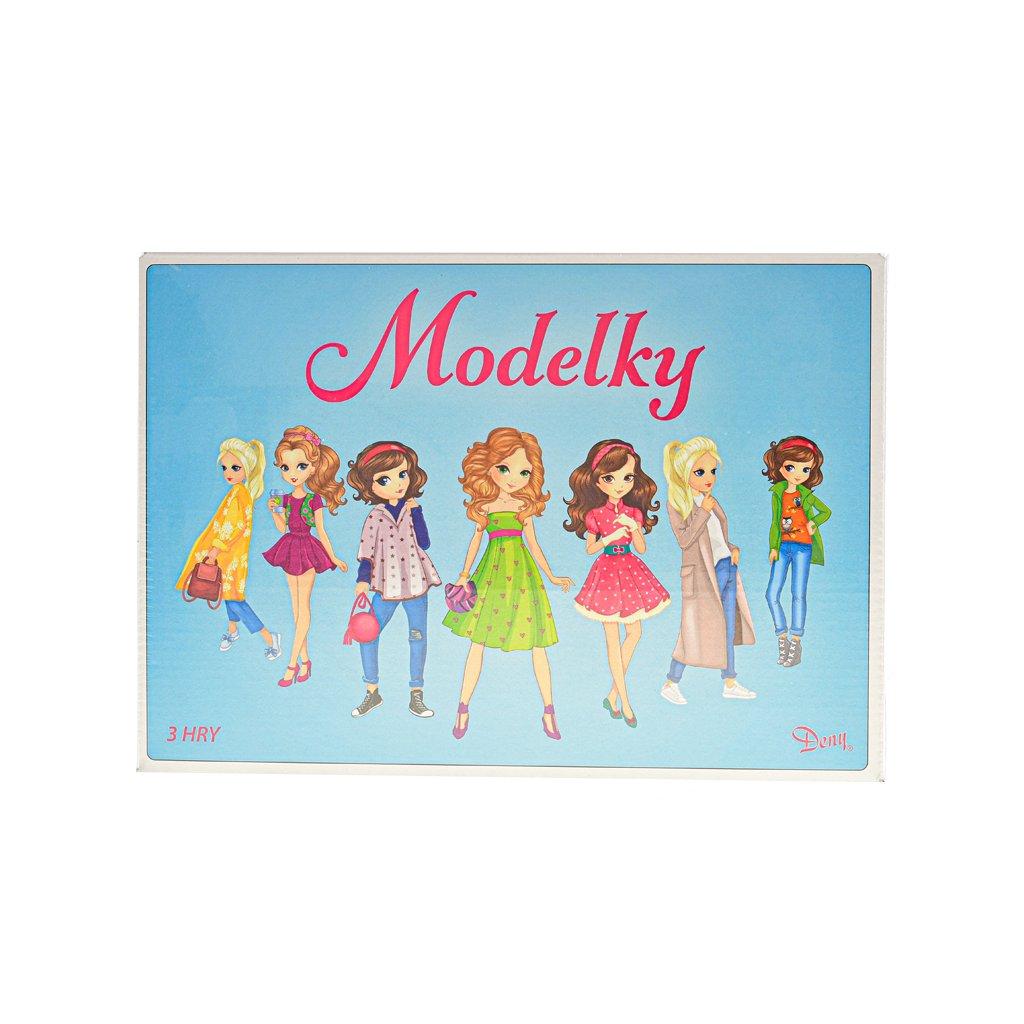 Spoločenská hra logická Modelky v krabičke