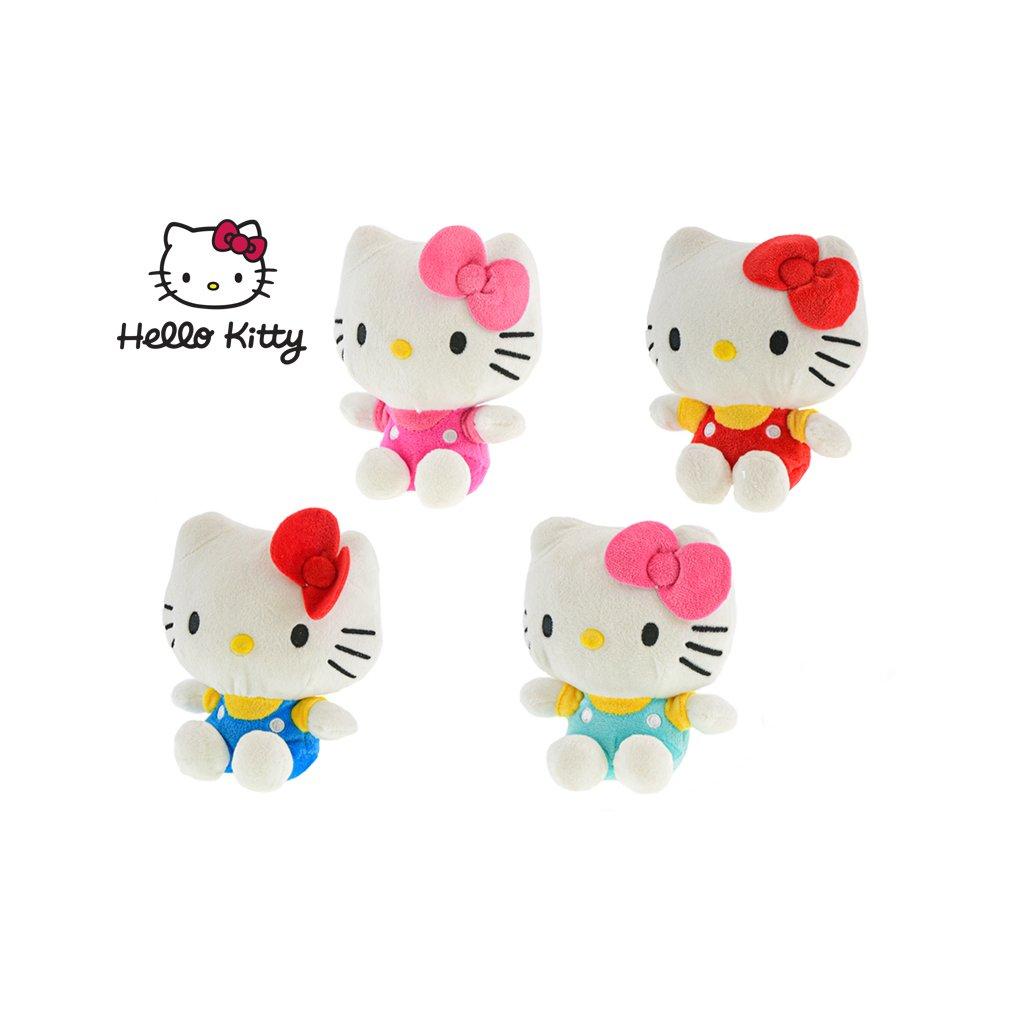 Hello Kitty sediaca plyšová 16cm 4farby 0m+