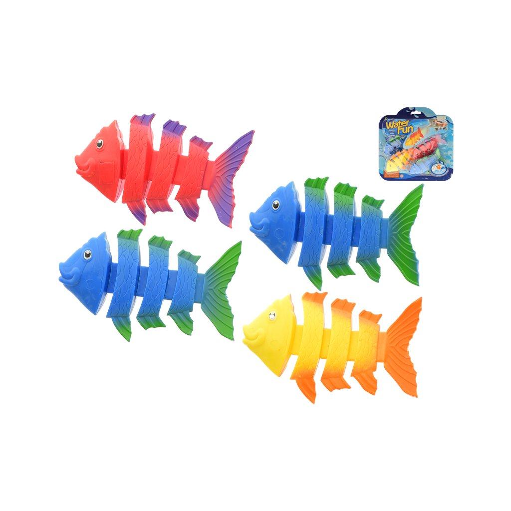Rybičky 11cm potápajúce sa 4ks na karte