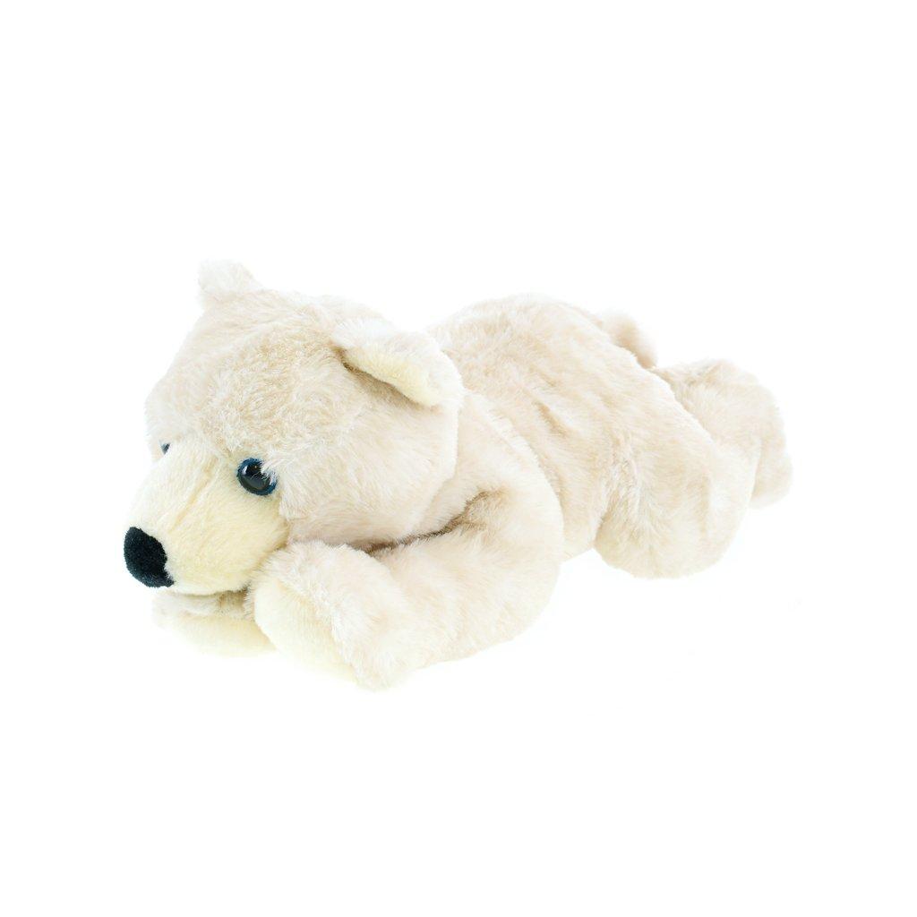 Medveď ľadový plyšový 32cm ležiaci 0m+ v sáčku