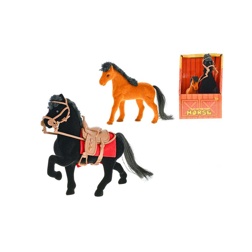 Kôň flíska 16cm s žriebätkom v krabičke