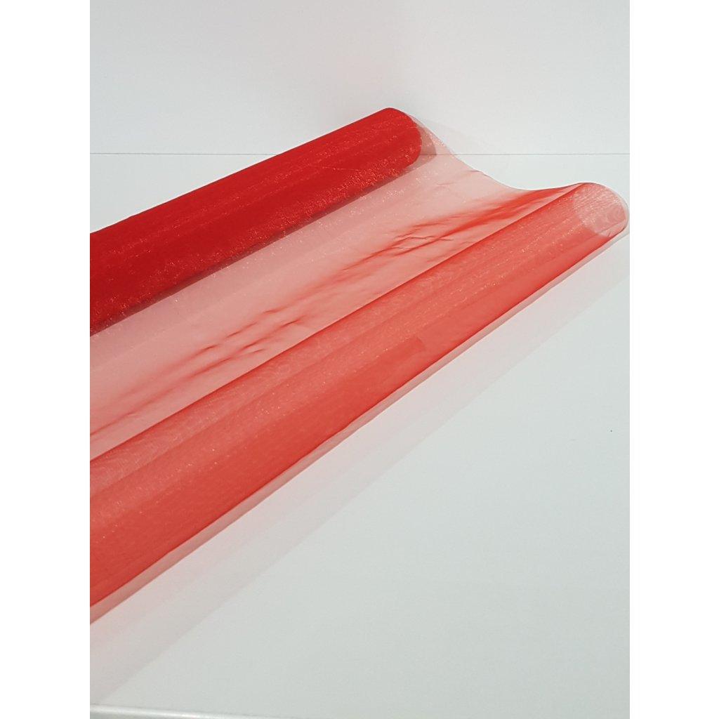 Organza 48 X 450cm cervena ZCL4003