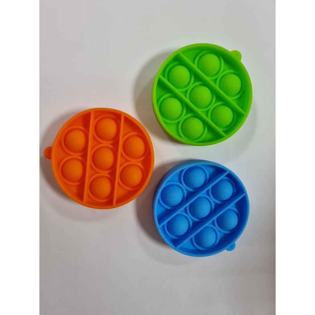 Antistresová hračka  POP IT kruh prívesok 6,5cm, 9842/MOD - Modrá