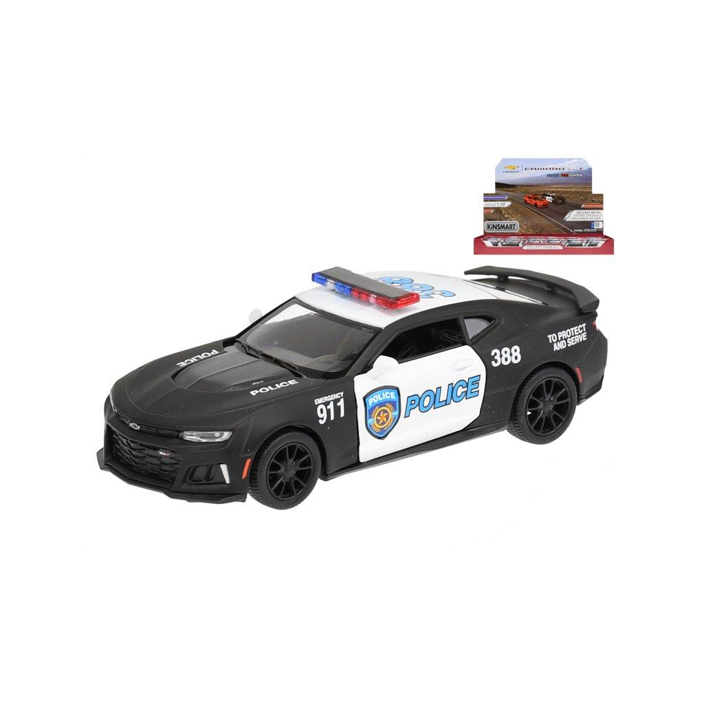 Auto Camaro ZL1 policajné 1:38 kov na spätný chod