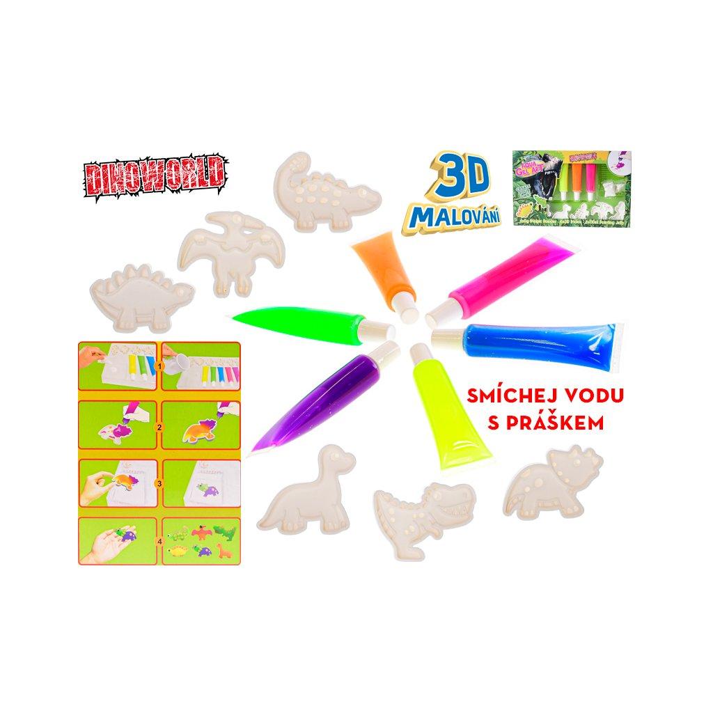 Sada namaluj si dinosaura 3D v krabičke