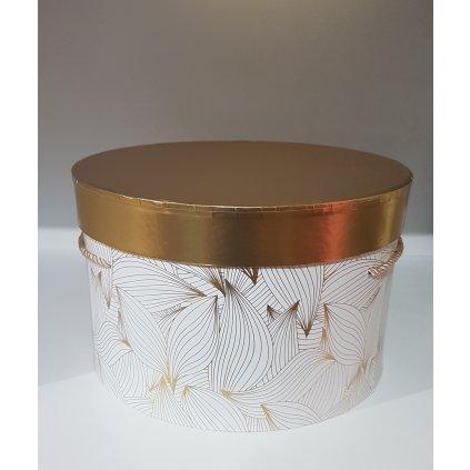 Papierový box na kvety W5623J, 11246/BIE - Biela