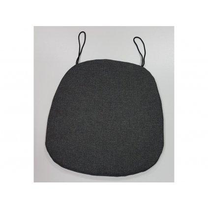 Sedák ovál jednofarebný 40x40cm, 8993/IER - Čierna