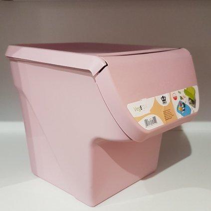 Plastový box na zeleninu, 11600/RUZ - Ružová