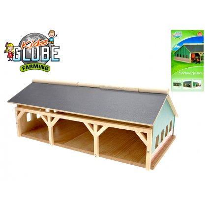 Farma drevená 17x30x11,9cm pre traktory, H126150