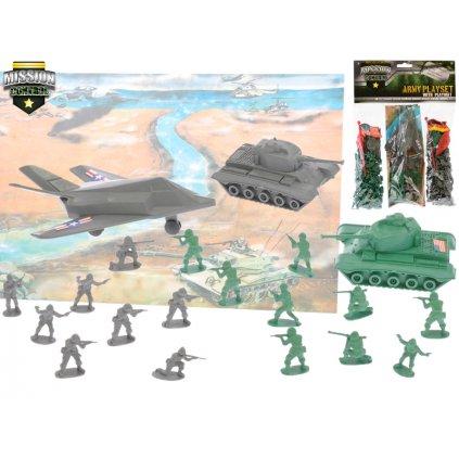 Sada vojaci mini s doplnkami 2 druhy v sáčku, H1571940