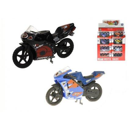Motorka 8cm 1:24 kov na voľný chod 2druhy 6farieb v krabičke 24ks v DBX