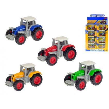Traktor 7cm kov 1:64 voľný chod 4farby v krabičke 24ks v DBX
