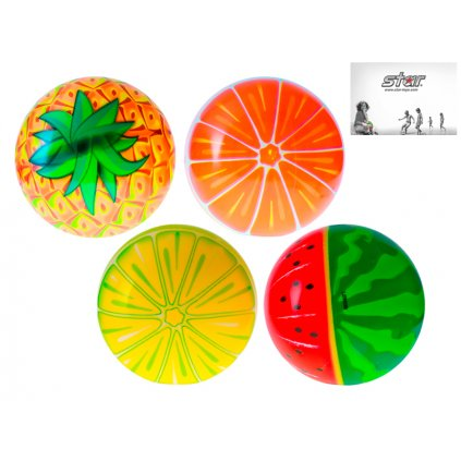 Lopta 11cm ovocie 10m+ 4druhy 24ks v PDQ, H132410