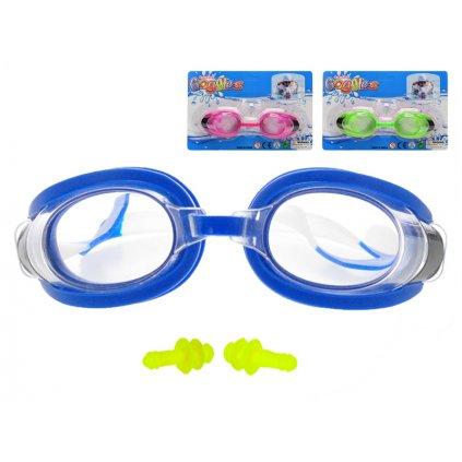 Plavecké okuliare 16cm 3farby na karte, H197427