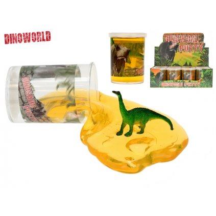 Sliz 7,5cm s dinosaurom 12druhov 12ks v DBX