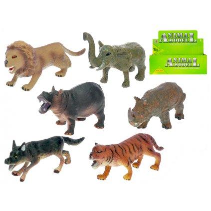 Zvieratka safari 11-14cm 6druhov 24ks v DBX